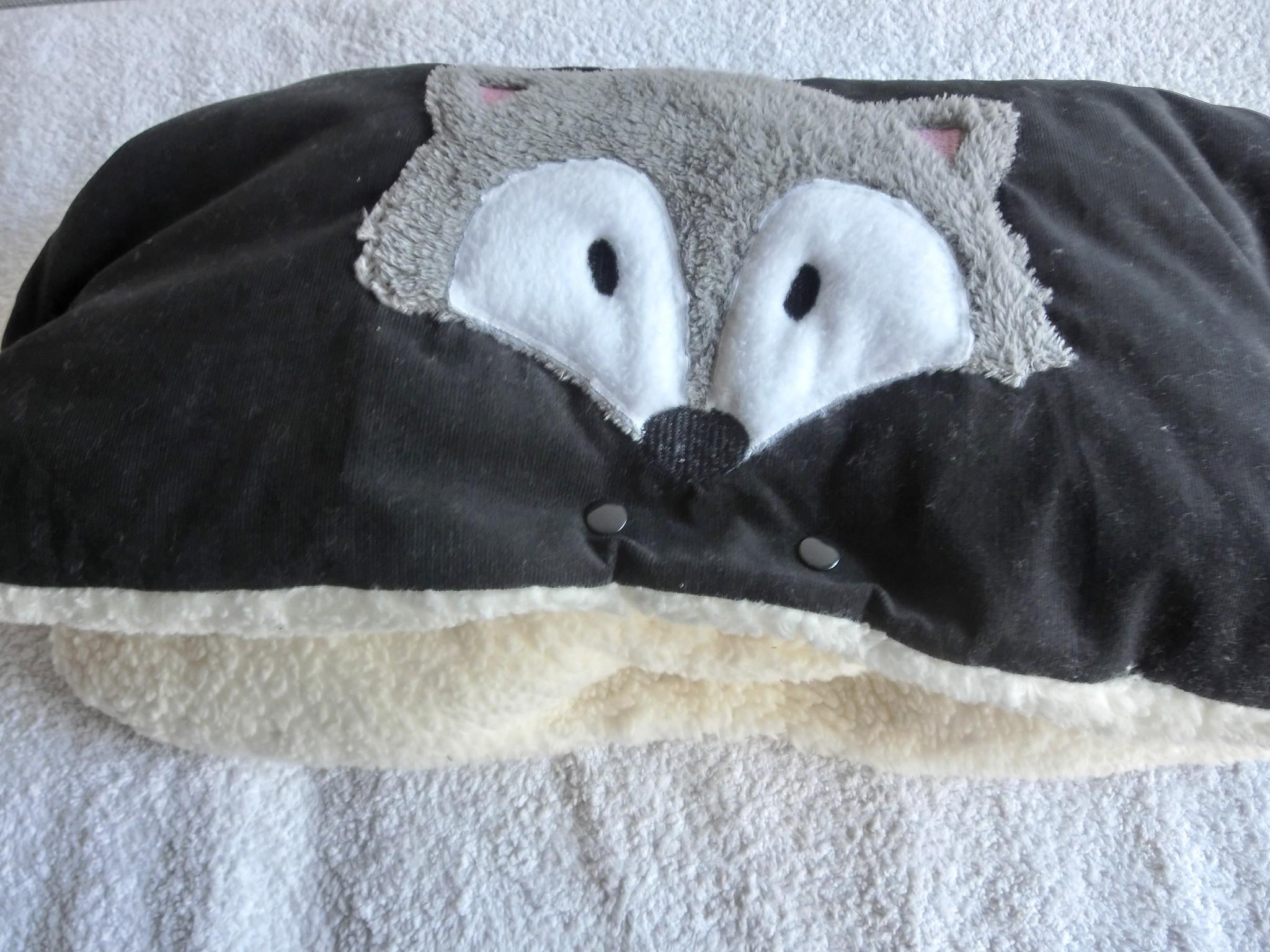 zauber strass zuckers er kinderwagenmuff muff fuchs teddy pl sch. Black Bedroom Furniture Sets. Home Design Ideas